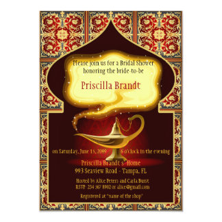 花嫁、アラビアンナイトに名誉を与えるブライダルシャワー カード