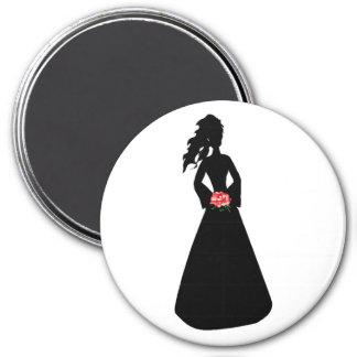 花嫁 シルエット III 冷蔵庫用マグネット