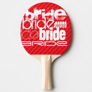 花嫁; 深紅の赤のストライプ 卓球ラケット