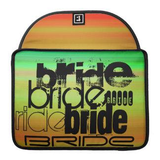 花嫁; 鮮やかな緑、オレンジ、及び黄色 MacBook PROスリーブ