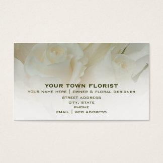 花屋の名刺-白いバラ 名刺