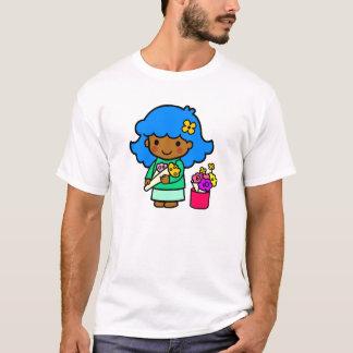 花屋の女の子 Tシャツ