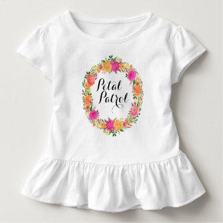 花弁のパトロールの幼児のひだのティーのフラワー・ガールのワイシャツ トドラーTシャツ