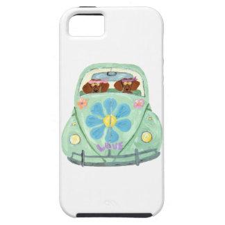 花愛可動装置のダックスフントのヒッピー iPhone SE/5/5s ケース