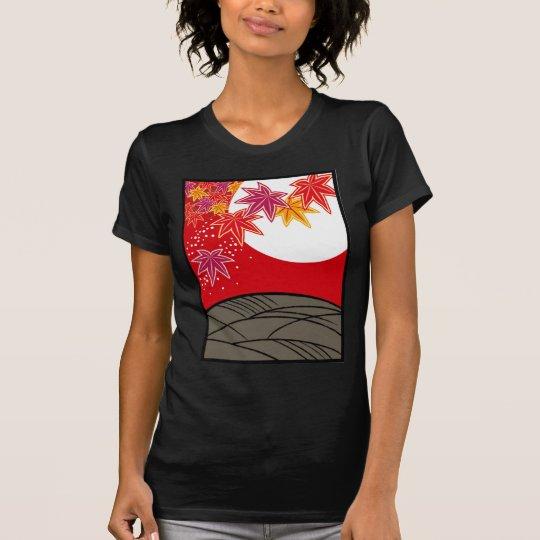 花札 坊主 八月 紅葉 Tシャツ