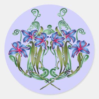 花束のダイアナのステッカー ラウンドシール