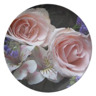 花束のプレート プレート