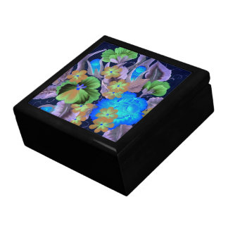 花束の青いギフト用の箱 ギフトボックス