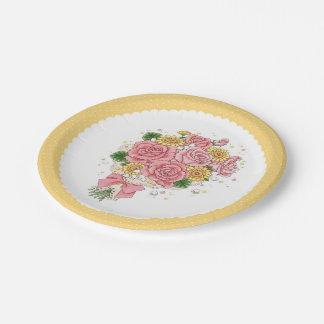 花束(黄色) 紙皿 小