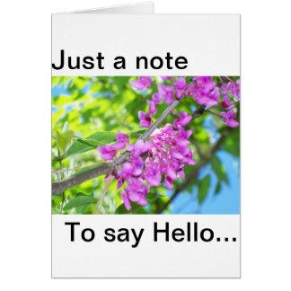 花柄のこんにちはノート カード