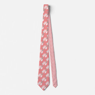 花柄のばら色のシェブロンパターン白いピンクの真新しい芸術 オリジナルタイ