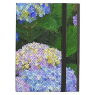 花柄のステンドグラスlカラフルな庭のアジサイ iPad airケース