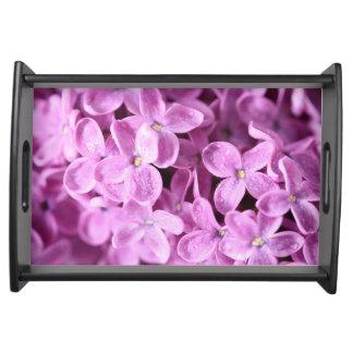 花柄のピンク トレー