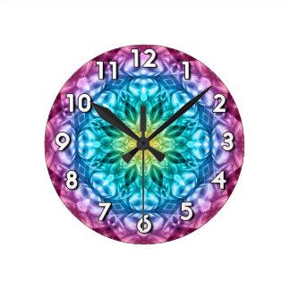 花柄の抽象芸術 ラウンド壁時計