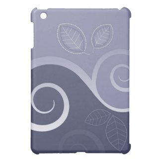 花柄の渦巻-ラベンダー iPad MINI CASE