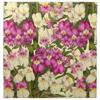 花柄の花の蘭の植物の布のナプキン ナプキンクロス