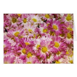 花柄は感謝していしています グリーティングカード