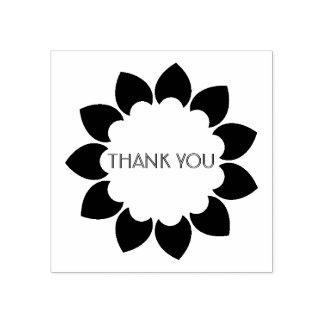 花柄は感謝していしています ラバースタンプ
