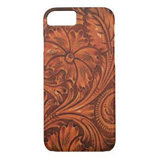 花柄は革スタイルのiphoneに用具を使いました iPhone 8/7ケース