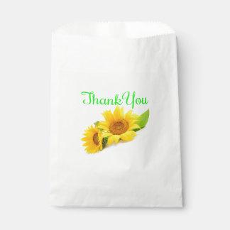 花柄は黄色および緑のヒマワリを感謝していしています フェイバーバッグ
