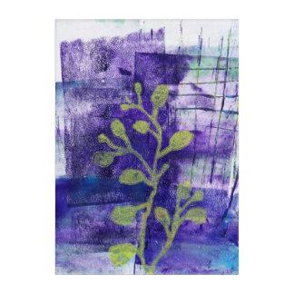 花柄はMonoprint 1711301の芸術のプリントを抽出します アクリルウォールアート