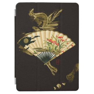 花柄を用いるひだを付けられた東洋ファン iPad AIR カバー