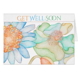 花柄を用いる健康な挨拶状をすぐに得て下さい カード