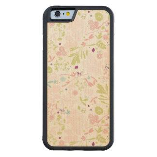 花柄を表示するパターン CarvedメープルiPhone 6バンパーケース