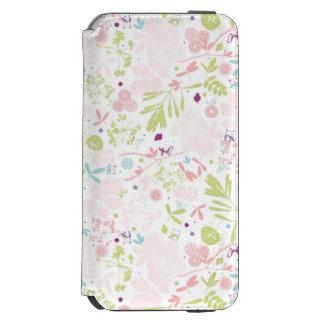 花柄を表示するパターン iPhone 6/6Sウォレットケース