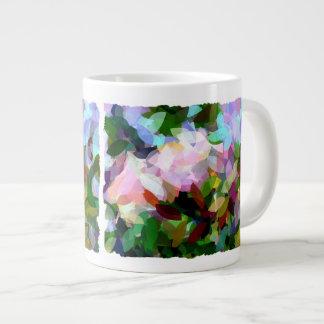 花柄 ジャンボコーヒーマグカップ