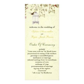 花柄|黄色|鳥|おり、|鳥|結婚|プログラム カスタマイズラックカード