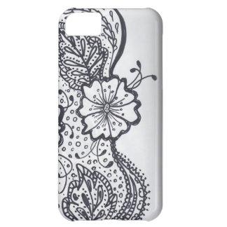 花柄 iPhone5Cケース