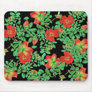 花植物のキャベツばら色の花 マウスパッド
