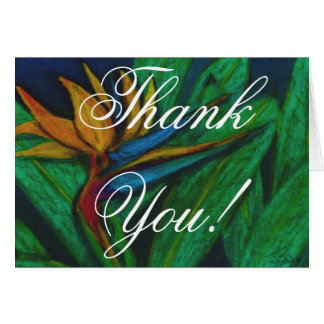 花極楽鳥は感謝していしています カード