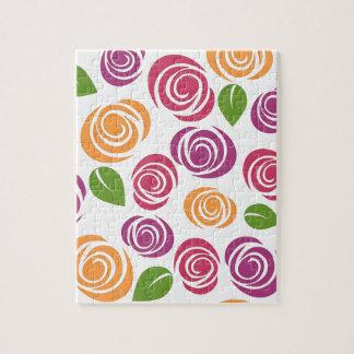 花模様の壁紙によってはバラパターン自然が開花します ジグソーパズル