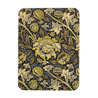 花模様の壁紙のヴィンテージデザイナーパターン マグネット