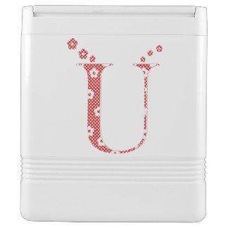 花模様の手紙U (赤い) クーラーバスケット