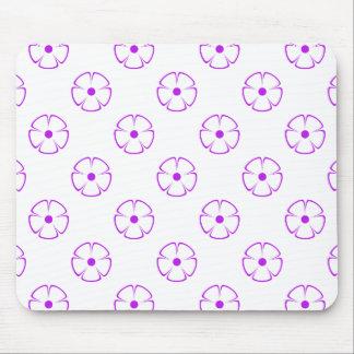 花模様1の紫色 マウスパッド