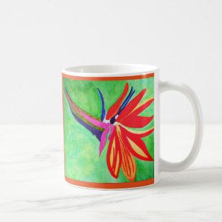 花水彩画の極楽鳥 コーヒーマグカップ