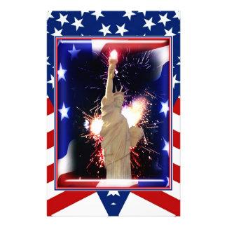 花火との自由の女神のための7月第4 便箋