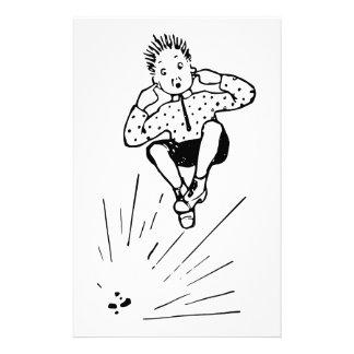 花火のイラストレーションと遊んでいる男の子 便箋