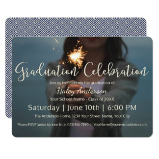 花火の卒業のお祝い カード