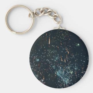 花火の流星のしぶきの水 キーホルダー