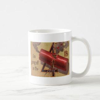 花火の爆竹の爆発の7月4日 コーヒーマグカップ
