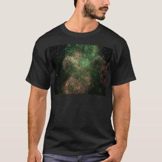 花火の緑の爆発のしぶき Tシャツ