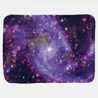花火の銀河系の宇宙の写真 ベビー ブランケット