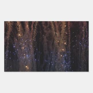 花火は空の7月4日をつけます 長方形シール