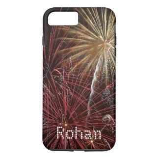 花火はSamsungが包装する7 6 5とiPhone 7を示します iPhone 7 Plusケース
