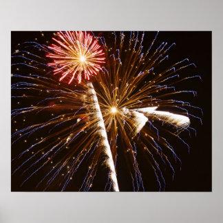 花火はSavannah川2に表示します ポスター