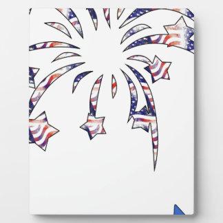 花火アメリカ米国の国旗の独立D フォトプラーク